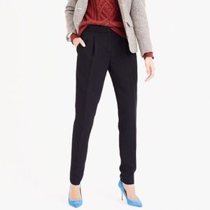 J. Crew High Rise Polishes Crepe Ankle Pants